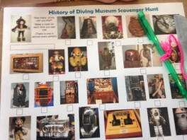 Scavenger hunt fun at the History of Diving museum