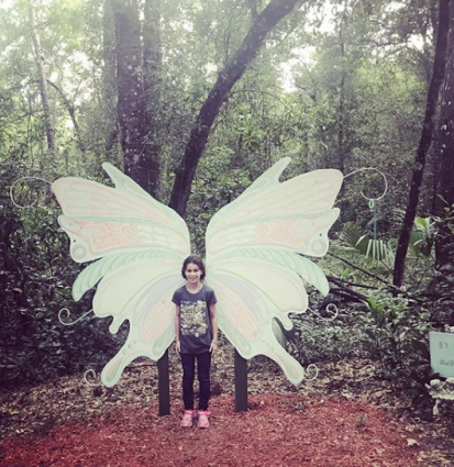 Fairy wings by Erica Group in Cassadega's Fairy Trail